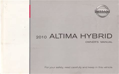 2010 Nissan Altima Owners Manual by 2010 Nissan Altima Owner S Manual Original