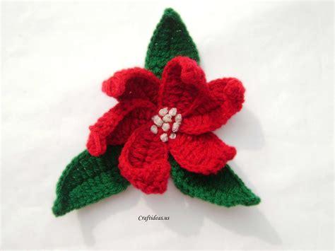 crochet craft projects craft ideas crochet poinsettias craft ideas