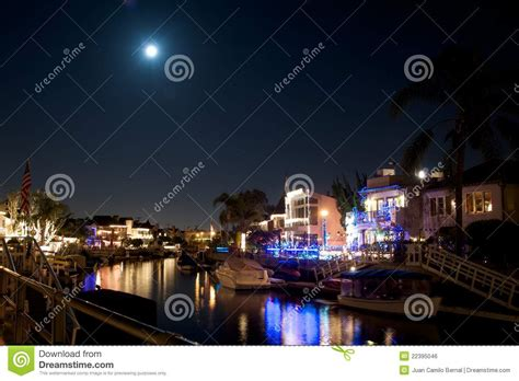 naples california lights naples california canal during royalty free