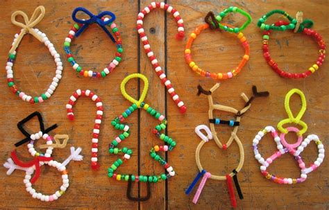 pipe cleaner bead ornaments crafts for 29 adorable diy tree ornaments