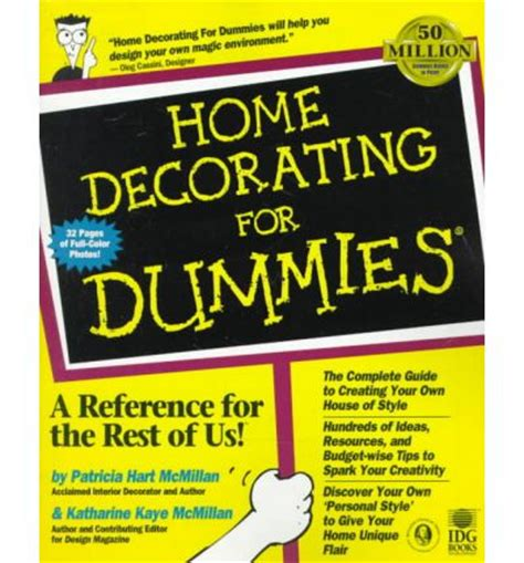 home interior design for dummies home decorating for dummies mcmillian 9780764551079