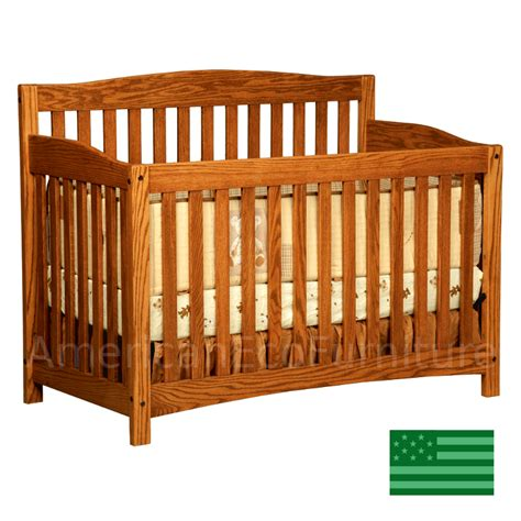 baby cribs made in america amish monterey 4 in 1 convertible baby crib solid wood