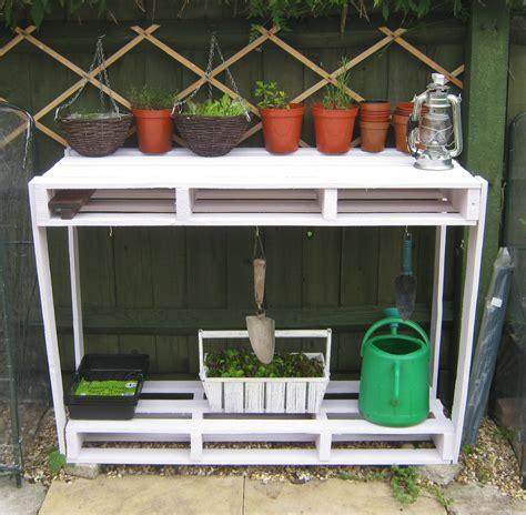 Gardening Workbench Mishaps In The Wooden Pallet Potting Bench