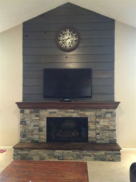 up fireplace fireplace diy makeover barnwood shiplap cleaned up and