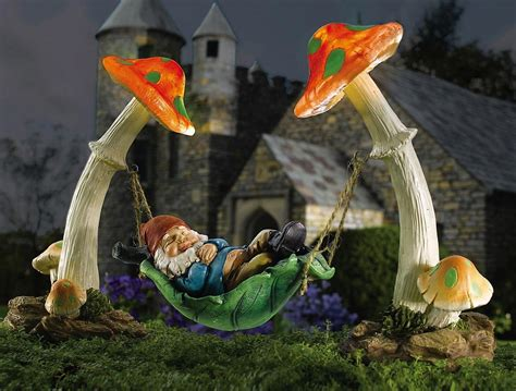 gnome string lights solar lighting design solar garden decor