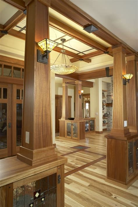 craftsman style woodwork a lot to here inlay floors wood panelling and trim