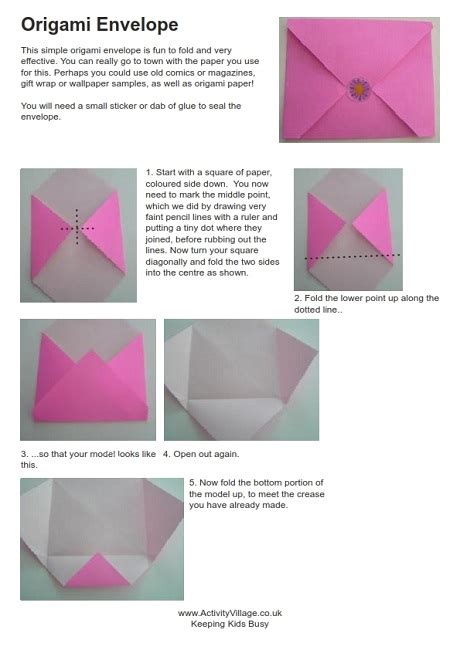 origami letter envelope origami envelope d i y do it yourself