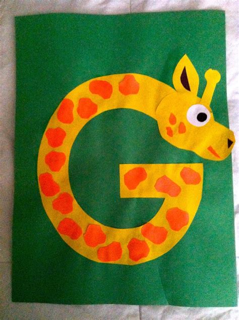alphabet crafts for letter g crafts preschool and kindergarten