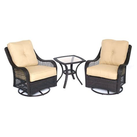 patio furniture 3 set shop hanover outdoor furniture orleans 3 wicker