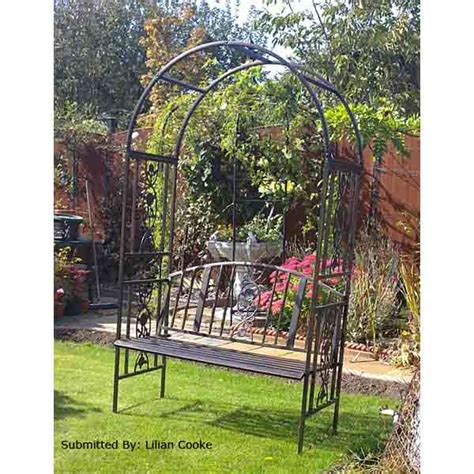 Garden Arch And Bench Greenhurst 2 Seater Arch Bench On Sale Fast Delivery