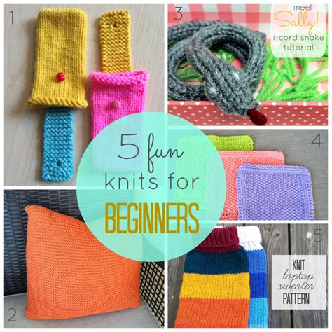 beginning knitting projects 5 knits for beginners just b crafty