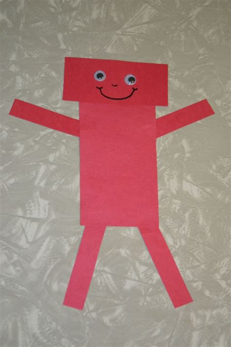 Rectangle Robot Craft Day Care Shapes