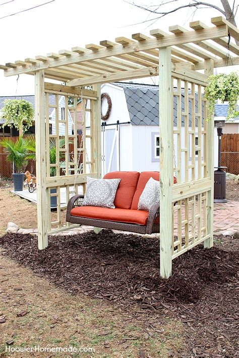 garden swing plans for the backyard hoosier