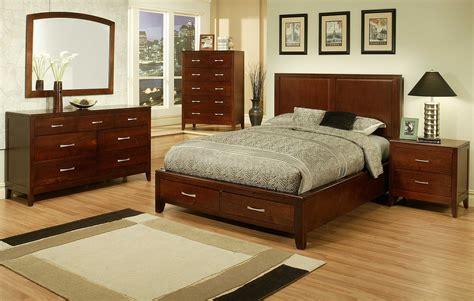 4 pc ayca solitude solid cherry panel bedroom set
