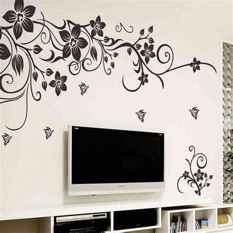 home stickers for walls diy wall decal decoration fashion flower wall