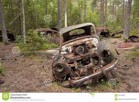 Car Dump by Car Dump In Kirkoe Mosse Royalty Free Stock Photography