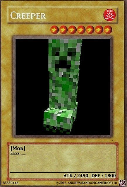 how to make yugioh cards yu gi oh creeper card minecraft