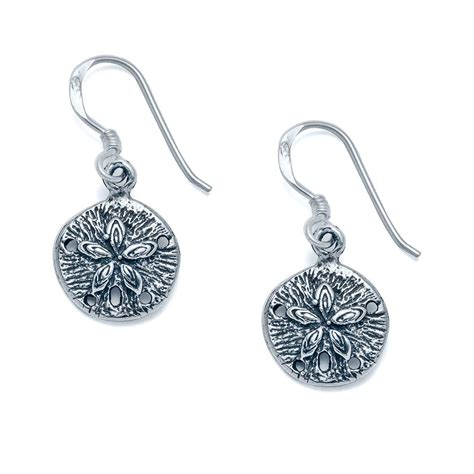dollar jewelry desoto sand dollar earrings landing company