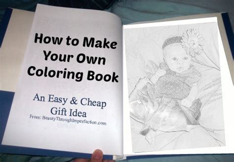 print your own picture book how to make your own coloring book cheap birthday gift