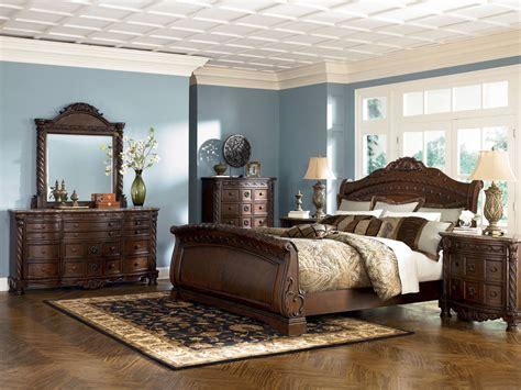 king sleigh bed bedroom sets furniture b553 shore or king sleigh