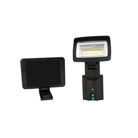 home depot solar motion lights nature power cob led motion activated solar security light