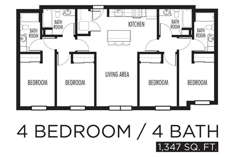 simple 4 bedroom floor plans 4 bedroom floor plans home design