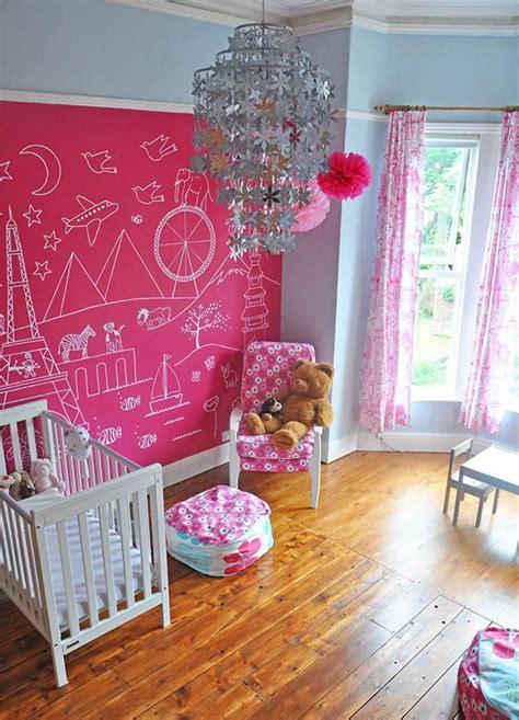 chalkboard paint nursery nursery room with pink chalkboard