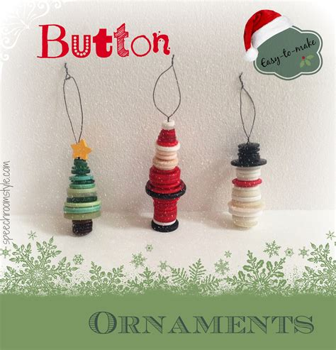 easy craft ornaments easy crafts 8 button ornaments speech room style