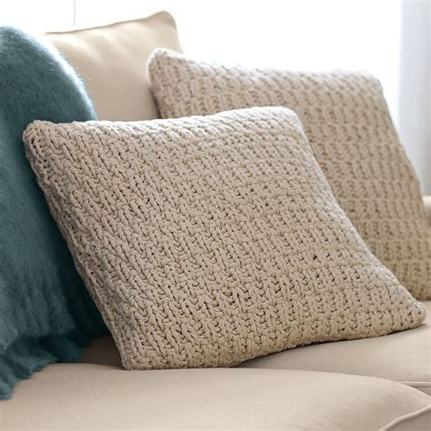 knitted pillows nubby knit pillow cover for the home