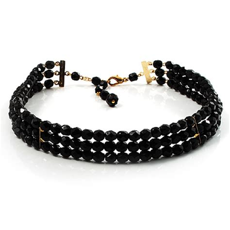 beaded chokers black bead jewellery chokers avalaya