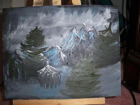 bob ross speed painting my bob ross painting by skwisgaarexplosion on deviantart