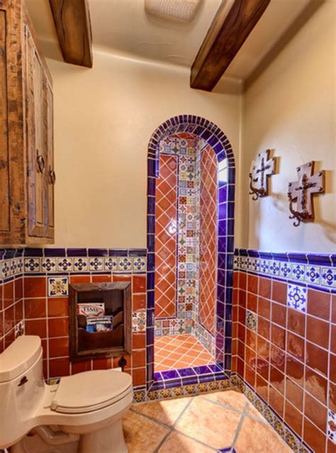 mexican tile bathroom designs home decorating ideas the style