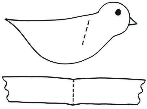 paper bird craft template preschool programs chapter tslac