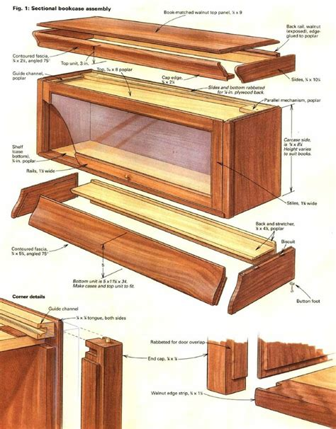 woodworking plans bookcase 25 best ideas about barrister bookcase on