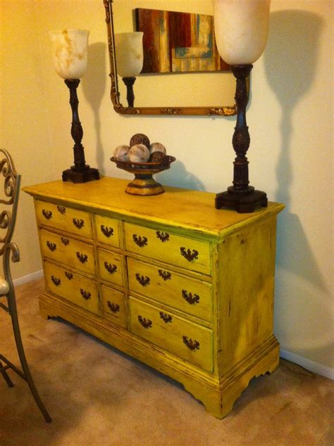 chalk paint yellow tree 17 best ideas about yellow distressed furniture on