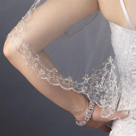 beaded veil cirque floral beaded veil bridal hair accessories