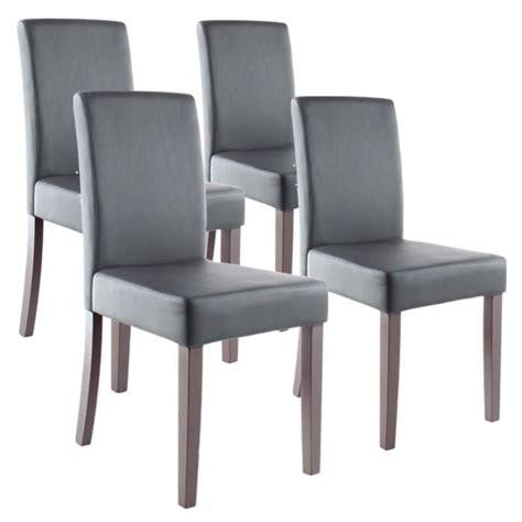 clara lot de 4 chaises de salle 224 manger grises achat vente chaise gris cyber monday le 27