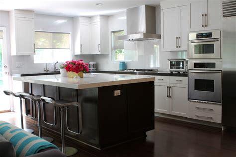 white and brown kitchen designs modern white gray brown open kitchen with island
