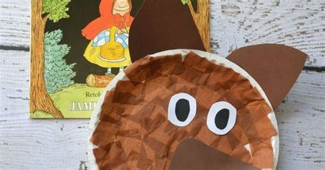 wolf paper plate craft paper plate wolf kid craft wolf and craft