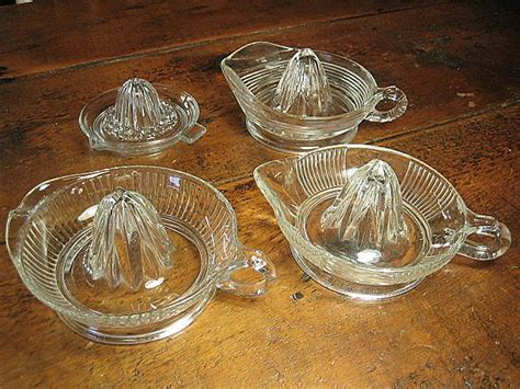 vintage glass s set of four vintage glass juicers from
