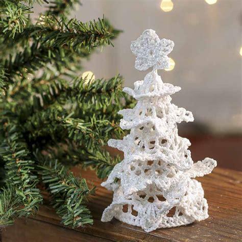 crochet tree ornament white iridescent crocheted tree ornament