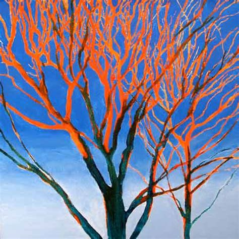 orange and blue tree orange on blue tree at sunset sold joe webster