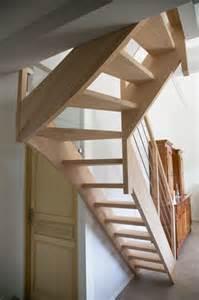 escalier bois quart tournant inox 224 hasparren 64 vente d escaliers et gardes corps en bois
