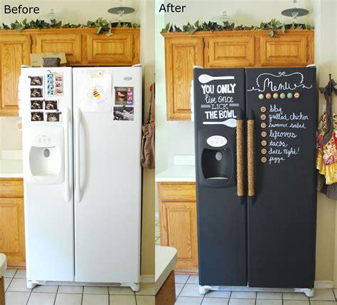 chalkboard paint in fridge the kurtz corner diy chalkboard refrigerator