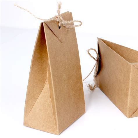 origami paper pouch thick brown kraft paper folding gift pouch bag lace up