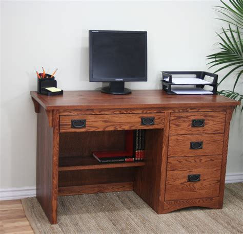 50 computer desk o m642 mission oak 50 3 drawer student computer desk