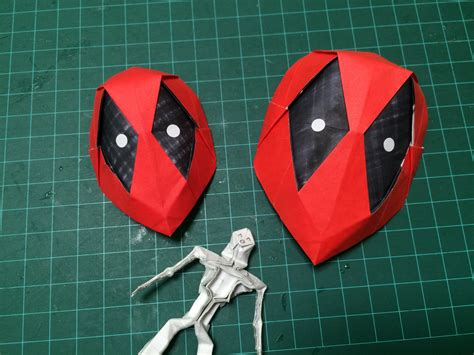 how to make origami mask how to make origami deadpool mask