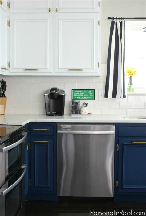 Oil Rubbed Bronze Faucet Kitchen navy and white modern kitchen