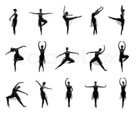 New Home Plans And Prices collection of different ballet poses black and white
