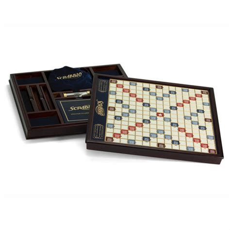 scrabble two player scrabble deluxe at brookstone buy now